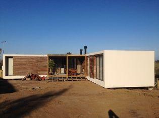 중국 강철 구조물 현대 조립식으로 만들어진 집, 우루과이 방갈로 가정은 계획합니다 협력 업체