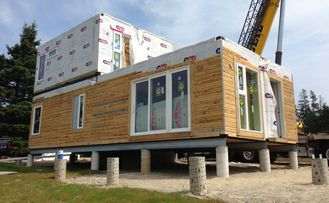 중국 모듈 건물에 의하여 조립식으로 만들어지는 집 2층 가벼운 계기 강철 별장 협력 업체