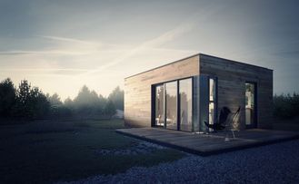 중국 가벼운 강철 구조 저장을 가진 조립식으로 만들어진 집 조립식 정원 스튜디오 협력 업체