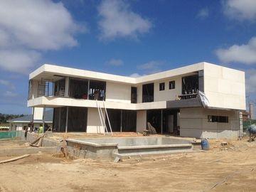 중국 2 이야기, 편평한 지붕, 우루과이는 가벼운 강철 집, 빛 강철 목조 가옥을 조립식으로 만들었습니다 대리점