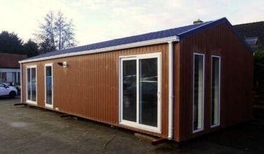 현대 편평한 지붕 조립식으로 만들어진 집은, 전 건축한 가정 이동 주택, 벨기에를 수출했습니다 이동 주택을 내화장치합니다